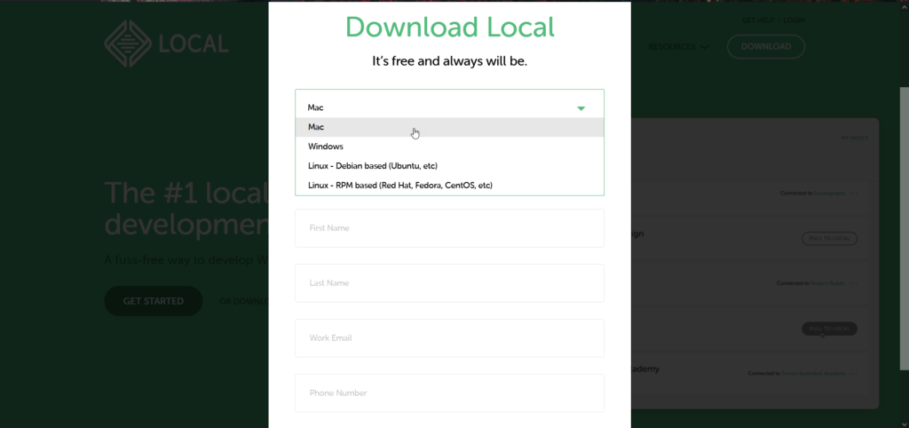 Local for mac