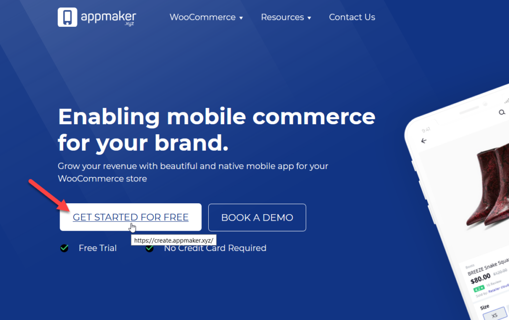 create a woocommerce mobile app - create app