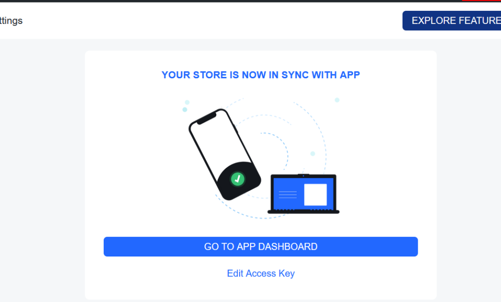 woocommerce store connected