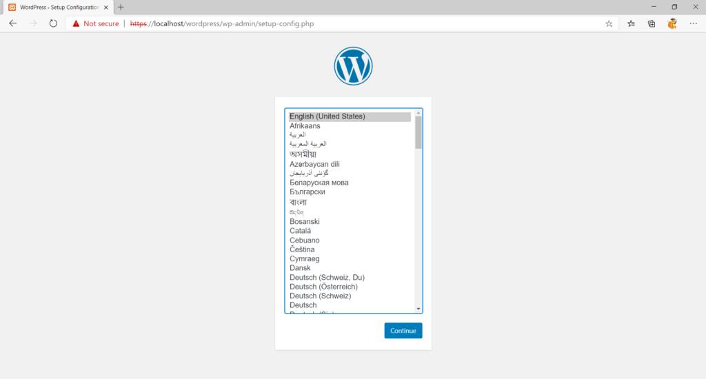 manual wordpress installation