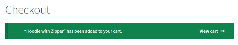 remove added to cart message