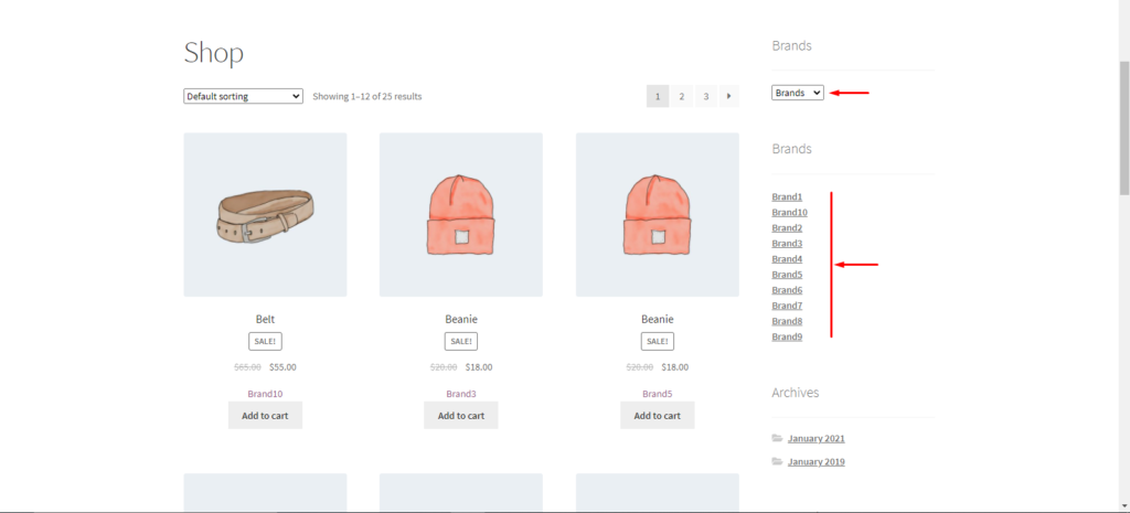 Organize WooCommerce products by brand - Brand Filter