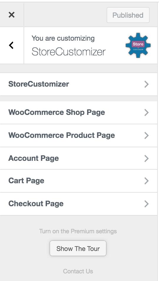 WooCommerce StoreCustomizer