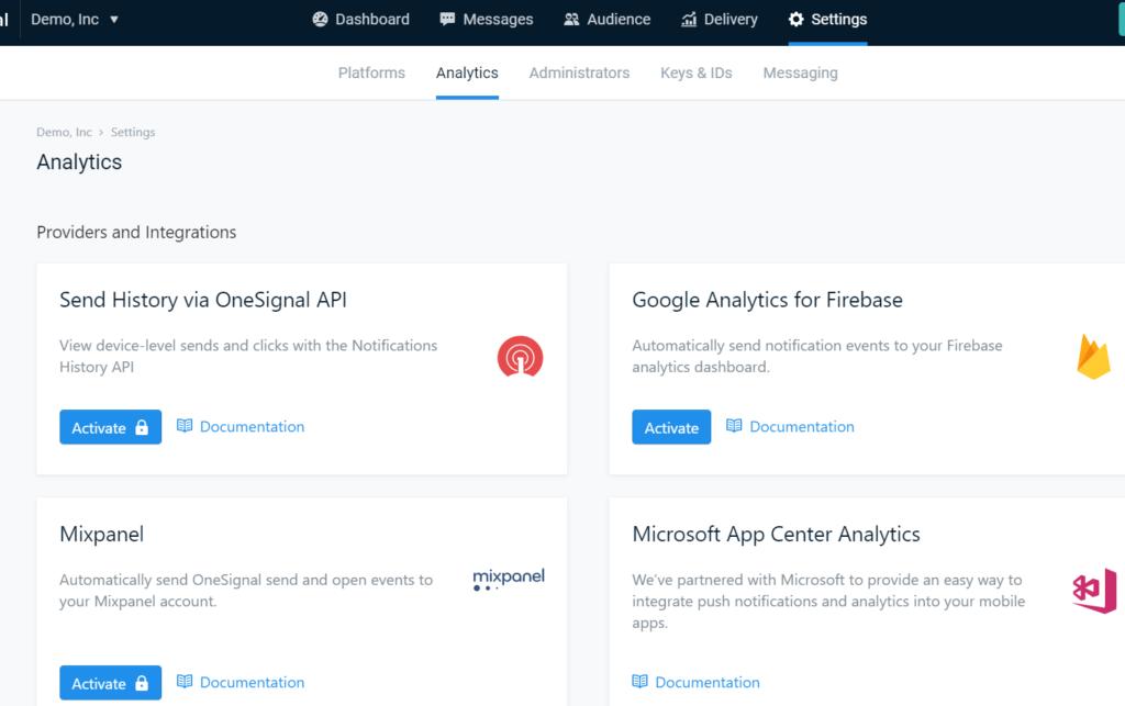 add push notifications to wordpress analytics assist