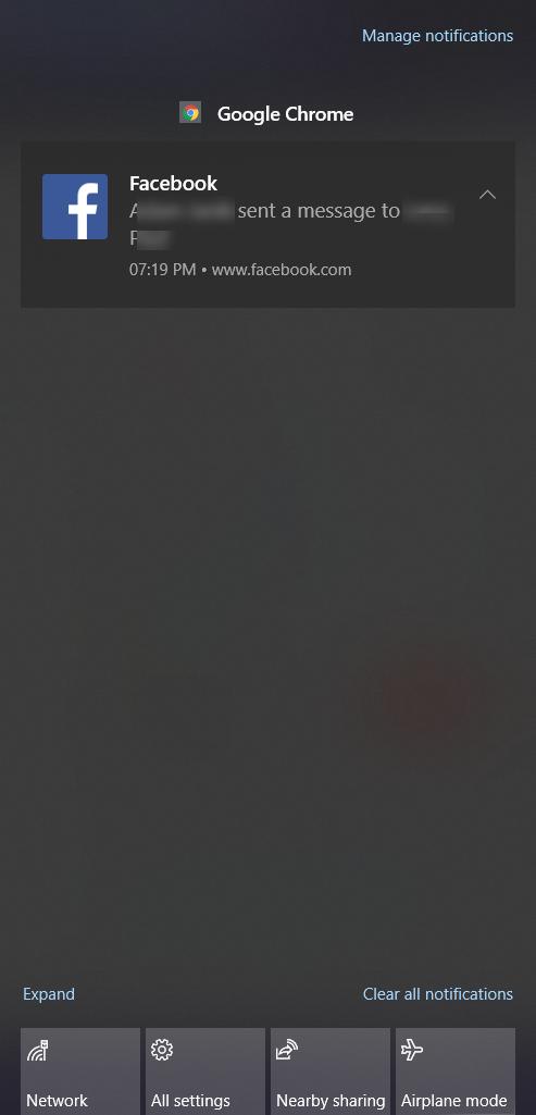 sample google chrome push notification