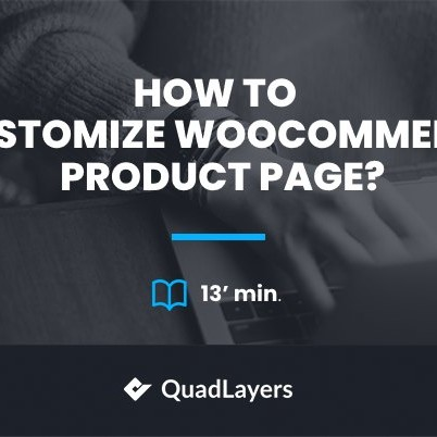 customize woocommerce product page - featured image