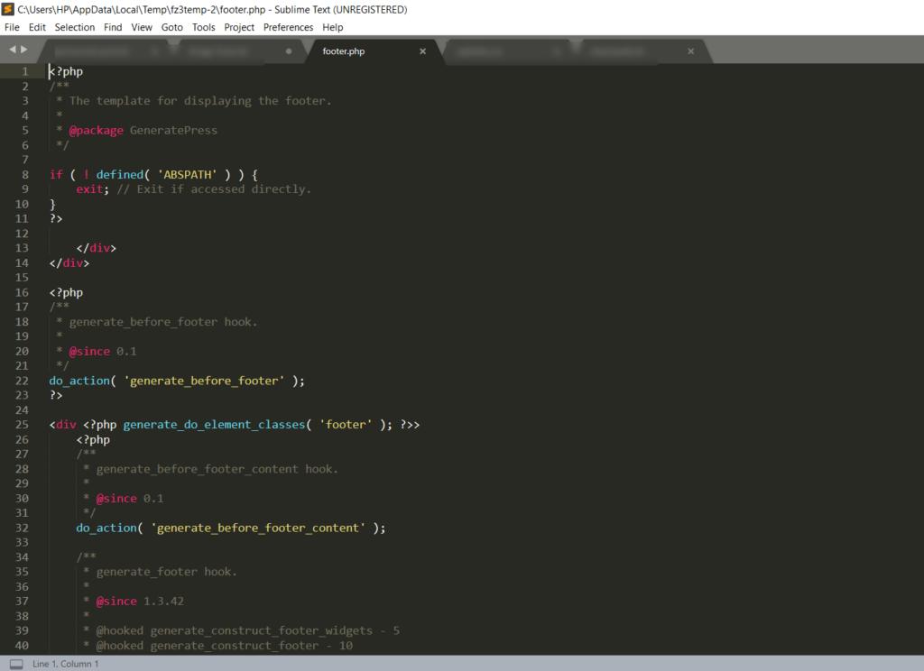 How to edit HTML in WordPress - Edit footer FileZila