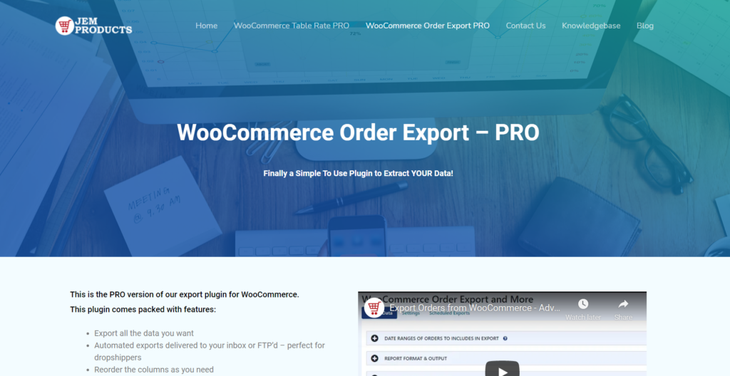 plugins to export woocommerce orders - order export pro