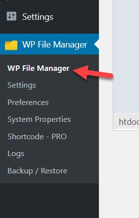 wp file manager plugin