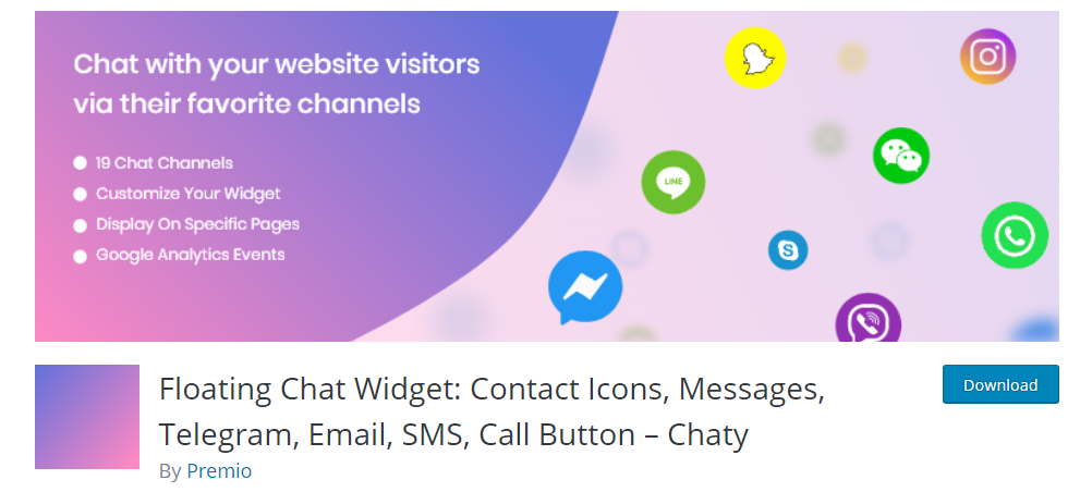 Best Telegram Plugins for WordPress - Floating Chat Widget