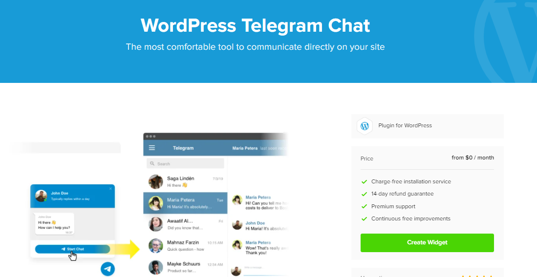 WordPress Telegram Chat