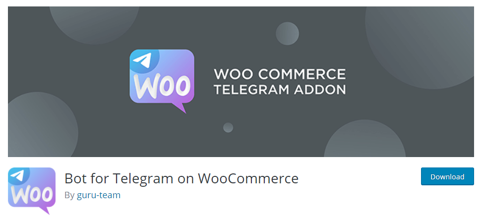 Bot for Telegram on WooCommerce