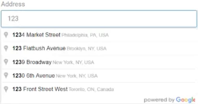 Autocomplete address in WordPress