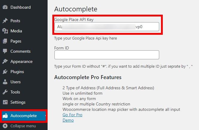 How to Autocomplete Address in WordPress - Google Places API key