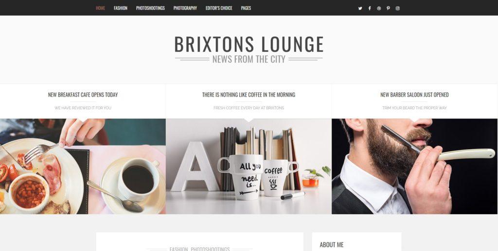 brixton best wordpress instagram themes