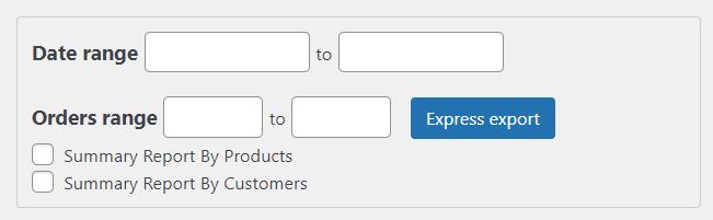 export orders in woocommerce - order based on date range