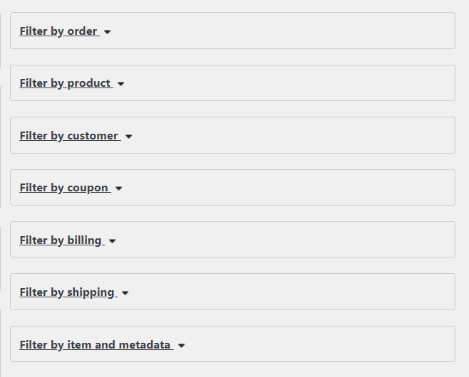 filter orders