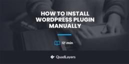 how to install wordpress plugin manually