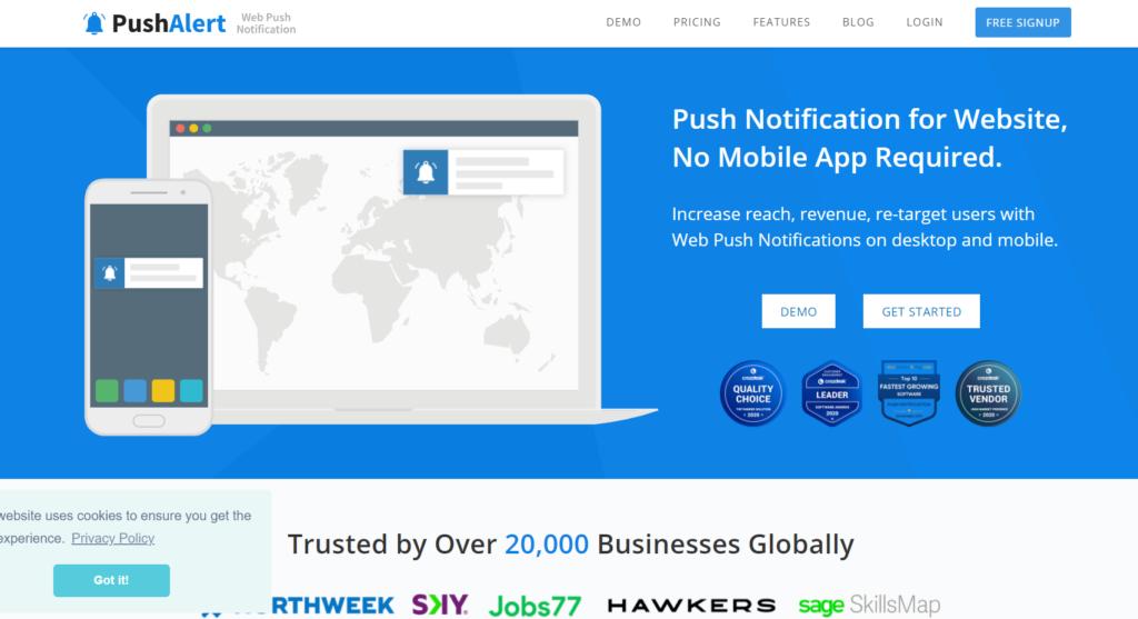 push notification plugins for wordpress - pushalert