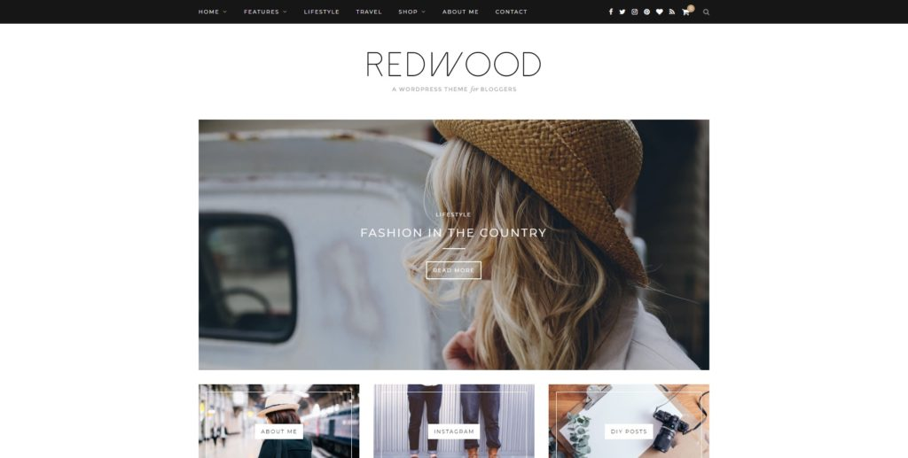 redwood best wordpress instagram themes