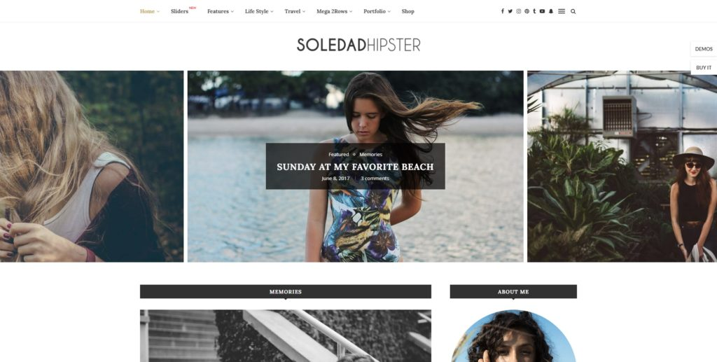soledad best wordpress instagram themes