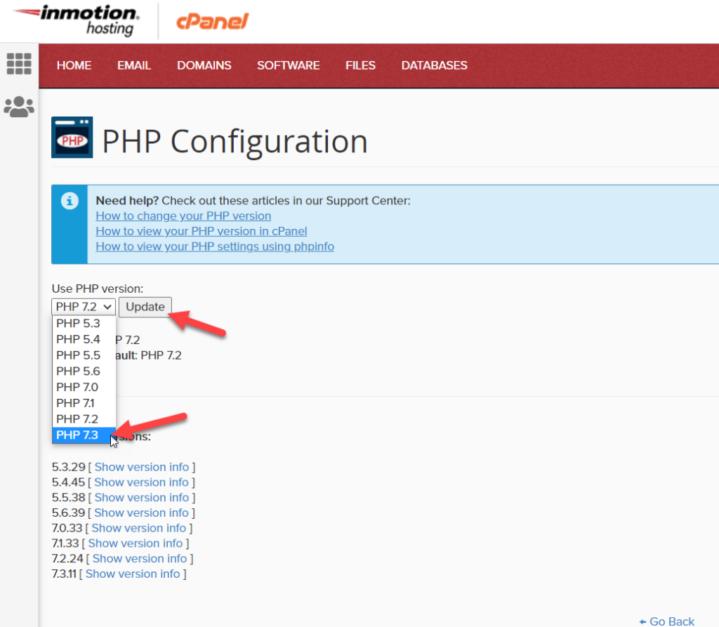 fix the link you followed has expired error in wordpress - update php
