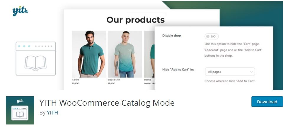 YITH woocommerce catalog mode enable catalog mode in woocommerce