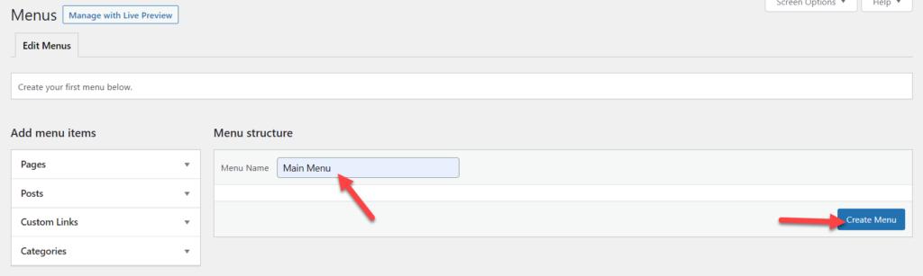 add page to wordpress menu - wordpress menu creation