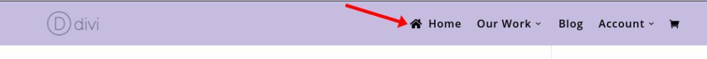 Add icon to menu item Divi