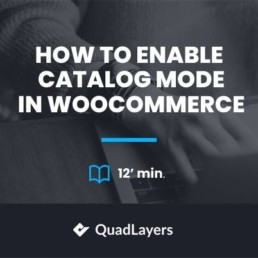 enable catalog mode in woocommerce