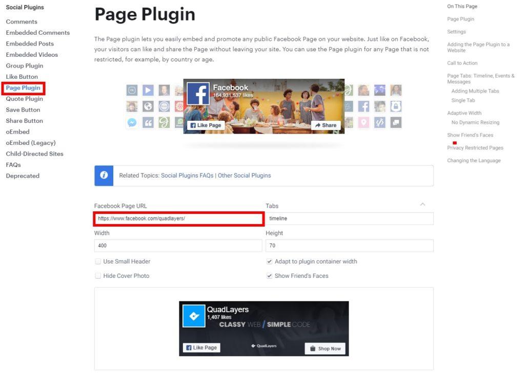 facebook page plugin add facebook group feeds