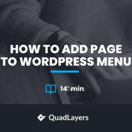 add page to wordpress menu
