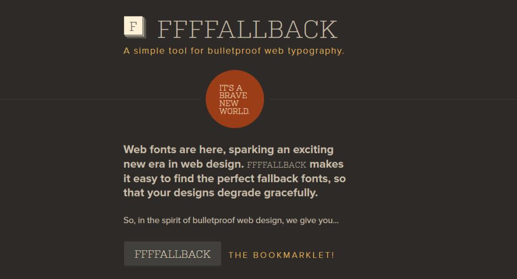 identify fonts on website - FFallback