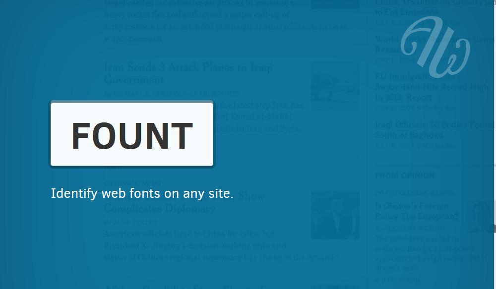 identify fonts on website - fount