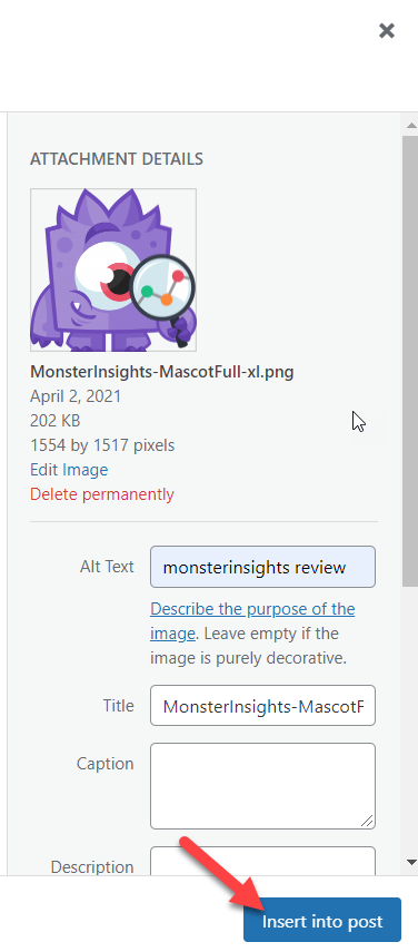 automatically Add ALT Tags to Images - insert media