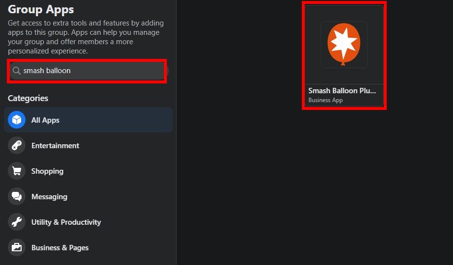 smash balloon facebook group app add facebook group feeds