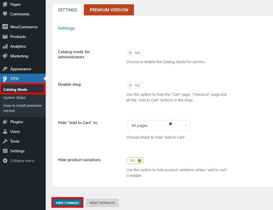 yith catalog mode enable catalog mode in woocommerce