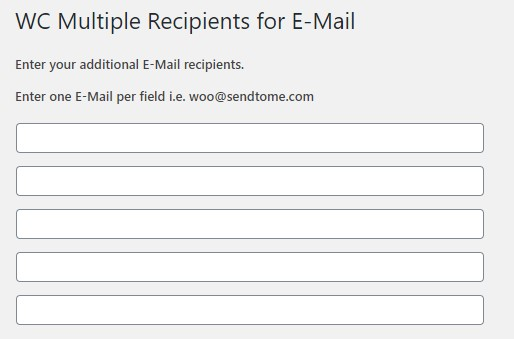 Add Multiple Emails in the Plugin Settings