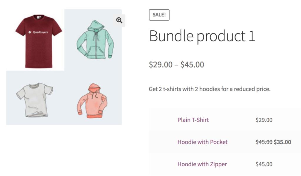 Create product bundles in WooCommerce