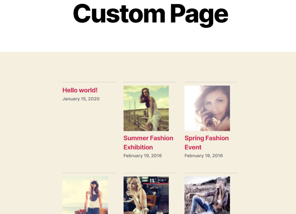 page published