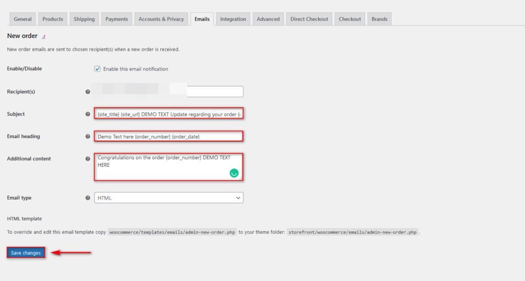 edit woocommerce email templates - customize transactional email woocommerce