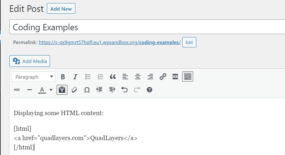 display html code