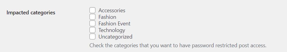 impacted categories