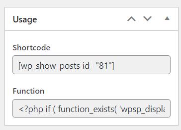 list post usage