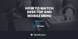 match desktop and mobile menu