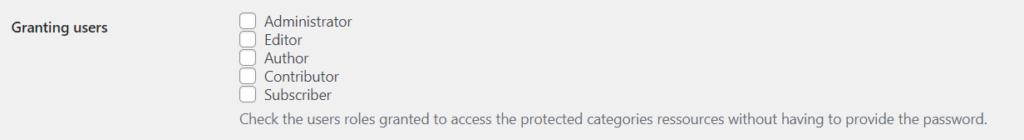 password user role