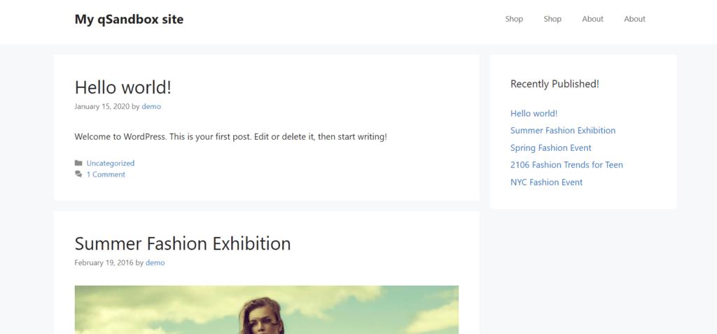 add posts to a page in wordpress - sidebar widget