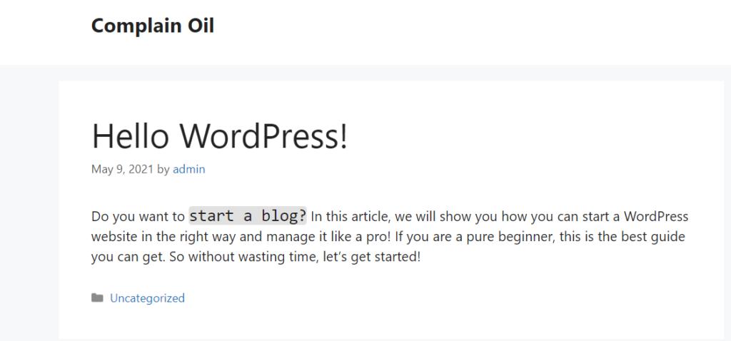 start a blog highlighted