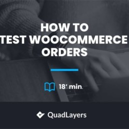 test woocommerce orders
