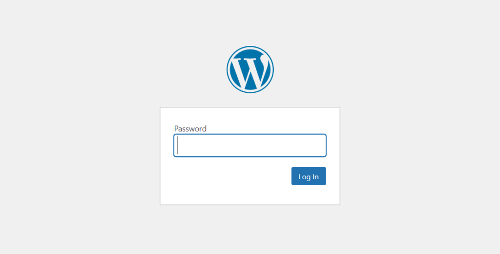 password protect page in wordpress - website protected